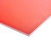 Plastplade rød (folieret) 122 x 244 cm