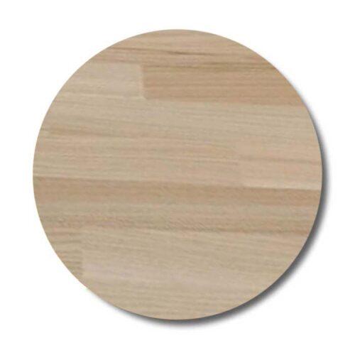 Rund bordplade af ubehandlet ask
