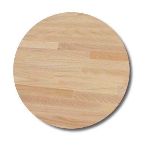 Rund bordplade af olieret bøg