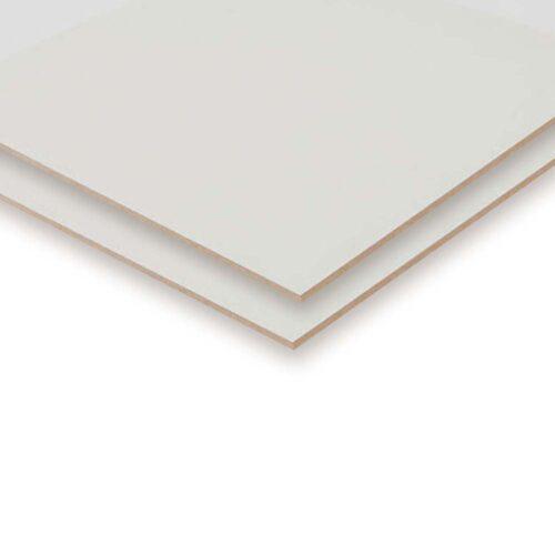 Hvid træfiberplade 2 sider