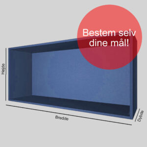 Kasse på mål blå gennemfarvet MDF 16 mm