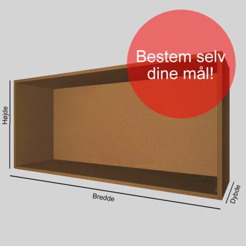 Kasse på mål brun gennemfarvet MDF 16 mm