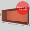 Kasse på mål rød gennemfarvet MDF 16 mm